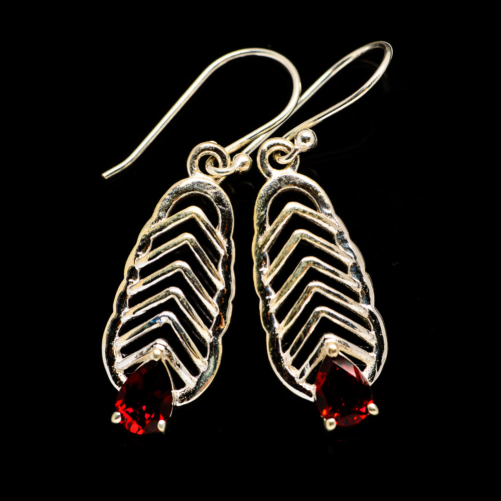 Garnet Earrings handcrafted by Ana Silver Co - EARR403439