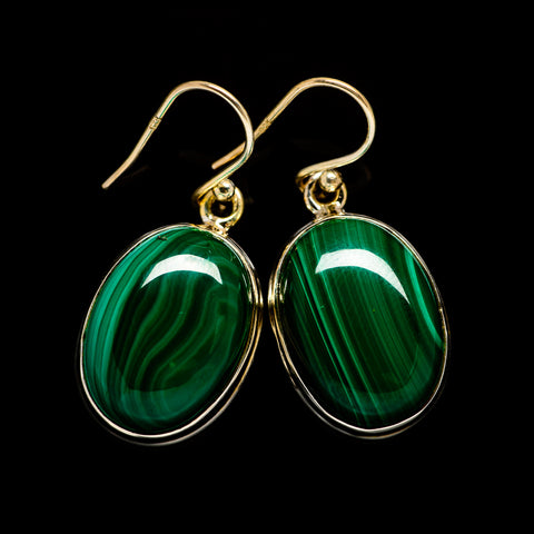 Malachite Earrings handcrafted by Ana Silver Co - EARR403500