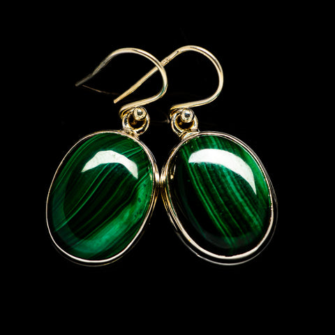 Malachite Earrings handcrafted by Ana Silver Co - EARR403627