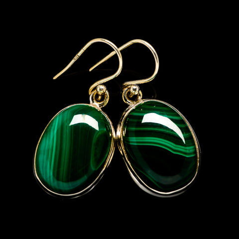 Malachite Earrings handcrafted by Ana Silver Co - EARR403730