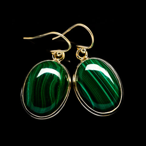 Malachite Earrings handcrafted by Ana Silver Co - EARR404039