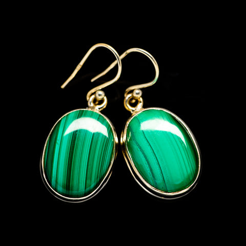 Malachite Earrings handcrafted by Ana Silver Co - EARR404273