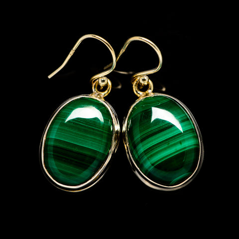 Malachite Earrings handcrafted by Ana Silver Co - EARR404441