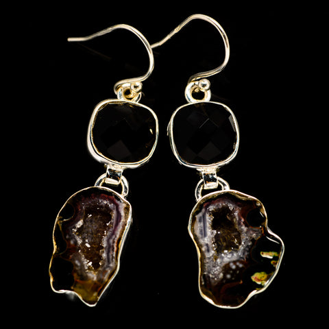Coconut Geode Druzy Earrings handcrafted by Ana Silver Co - EARR404541