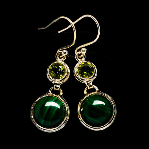 Malachite Earrings handcrafted by Ana Silver Co - EARR404708