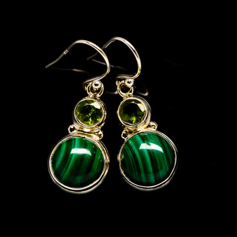Malachite Earrings handcrafted by Ana Silver Co - EARR404711