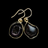 Coconut Geode Druzy Earrings handcrafted by Ana Silver Co - EARR404733