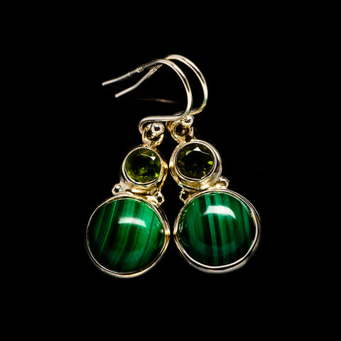 Malachite Earrings handcrafted by Ana Silver Co - EARR404779