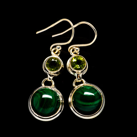 Malachite Earrings handcrafted by Ana Silver Co - EARR404826