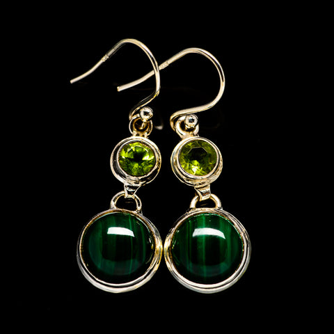 Malachite Earrings handcrafted by Ana Silver Co - EARR404864
