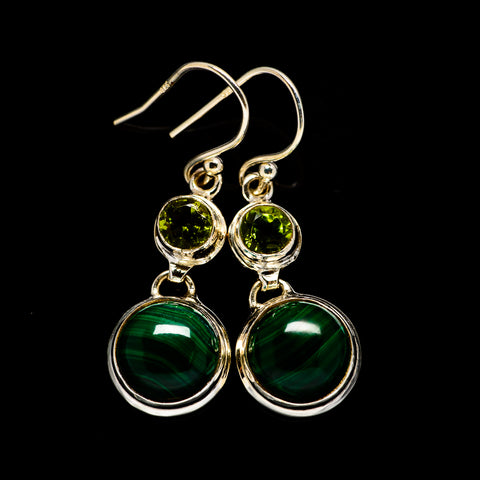 Malachite Earrings handcrafted by Ana Silver Co - EARR405099