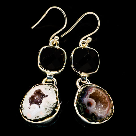 Coconut Geode Druzy Earrings handcrafted by Ana Silver Co - EARR405311