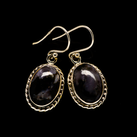 Indigo Gabbro Earrings handcrafted by Ana Silver Co - EARR405435