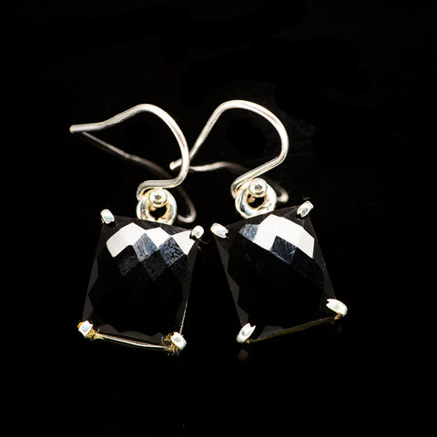 Black Onyx Earrings handcrafted by Ana Silver Co - EARR405787