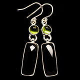 Black Onyx Earrings handcrafted by Ana Silver Co - EARR406102