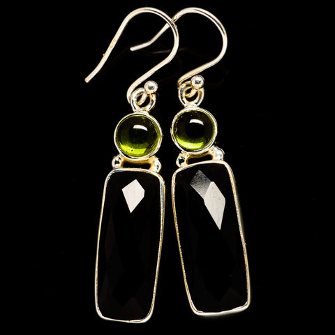 Black Onyx Earrings handcrafted by Ana Silver Co - EARR406157