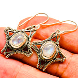 Rainbow Moonstone Earrings handcrafted by Ana Silver Co - EARR406710