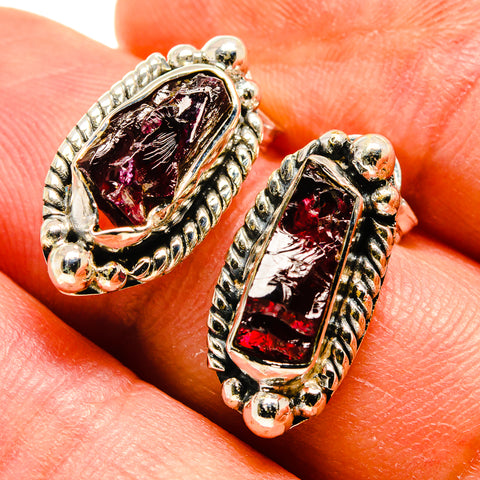 Garnet Earrings handcrafted by Ana Silver Co - EARR407061