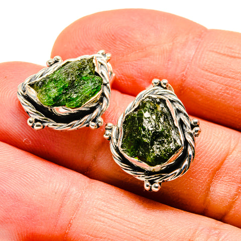 Chrome Diopside Earrings handcrafted by Ana Silver Co - EARR407196