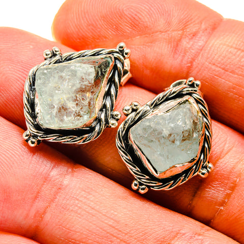 Aquamarine Earrings handcrafted by Ana Silver Co - EARR407704