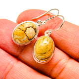 Picture Jasper Earrings handcrafted by Ana Silver Co - EARR407991