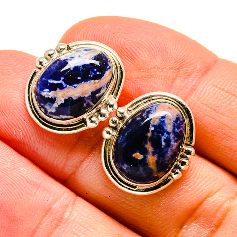 Sodalite Earrings handcrafted by Ana Silver Co - EARR408002