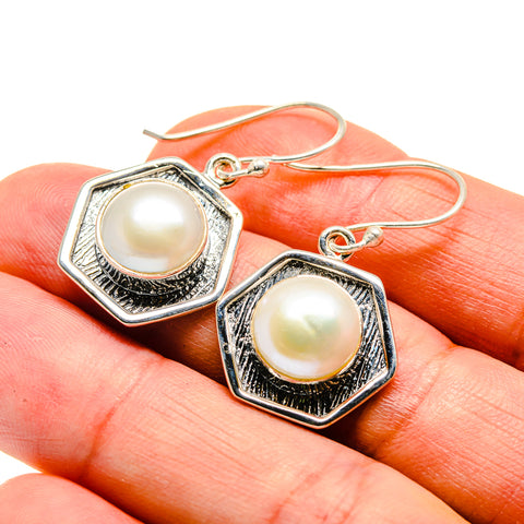 Cultured Pearl Earrings handcrafted by Ana Silver Co - EARR408586