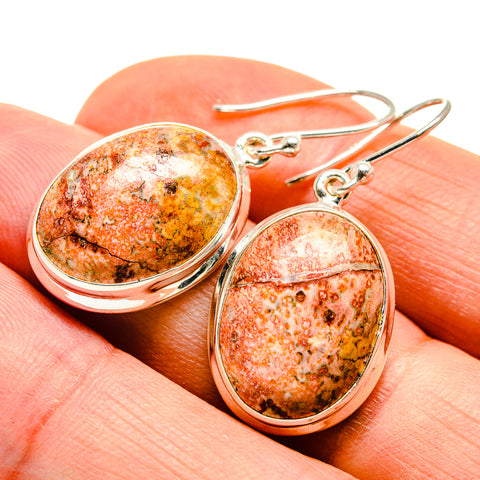 Leopardskin Jasper Earrings handcrafted by Ana Silver Co - EARR408717