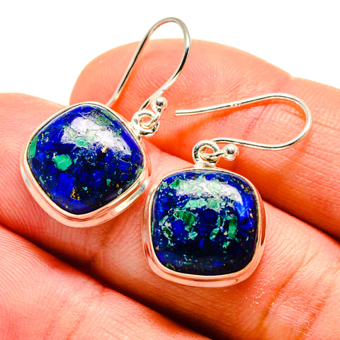 Azurite Earrings handcrafted by Ana Silver Co - EARR408959