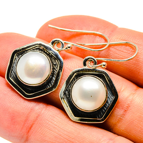 Cultured Pearl Earrings handcrafted by Ana Silver Co - EARR409168