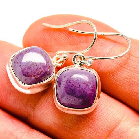 Charoite Earrings handcrafted by Ana Silver Co - EARR409216
