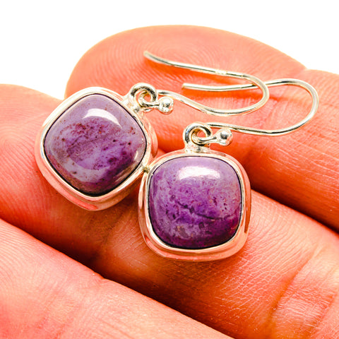 Charoite Earrings handcrafted by Ana Silver Co - EARR409264