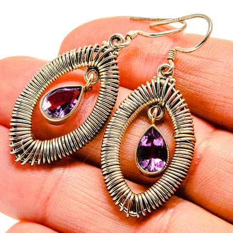 Amethyst Earrings handcrafted by Ana Silver Co - EARR409315