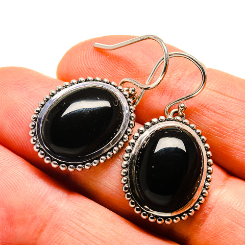 Black Onyx Earrings handcrafted by Ana Silver Co - EARR409720