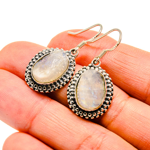 Rainbow Moonstone Earrings handcrafted by Ana Silver Co - EARR409989