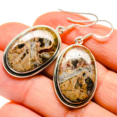 Poppy Jasper Earrings handcrafted by Ana Silver Co - EARR410020
