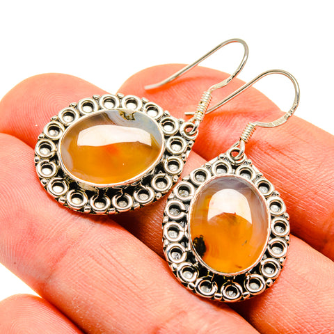 Montana Agate Earrings handcrafted by Ana Silver Co - EARR410111