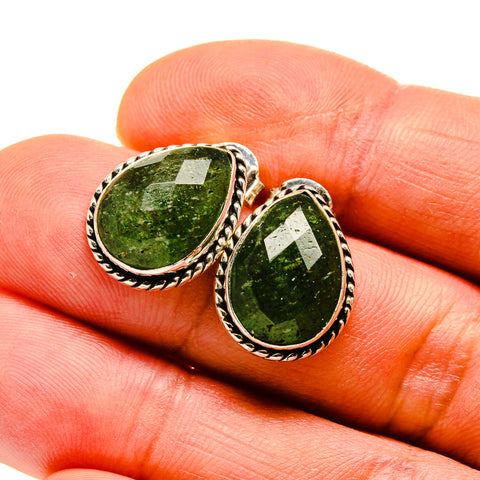 Green Aventurine Earrings handcrafted by Ana Silver Co - EARR411378