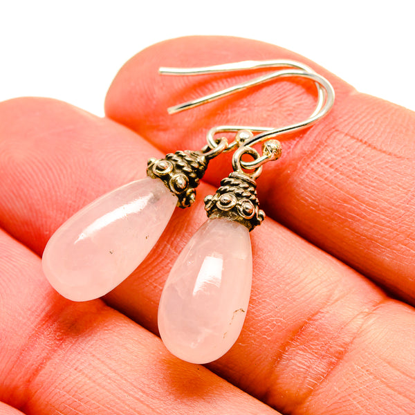 Rose Quartz Earrings handcrafted by Ana Silver Co - EARR413047