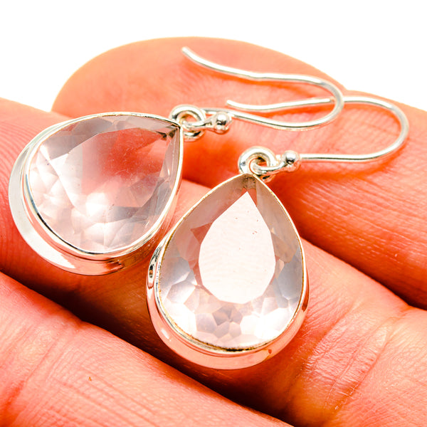 Rose Quartz Earrings handcrafted by Ana Silver Co - EARR413622
