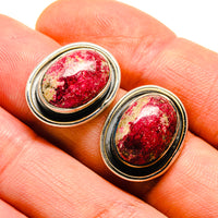 Thulite Earrings handcrafted by Ana Silver Co - EARR413726