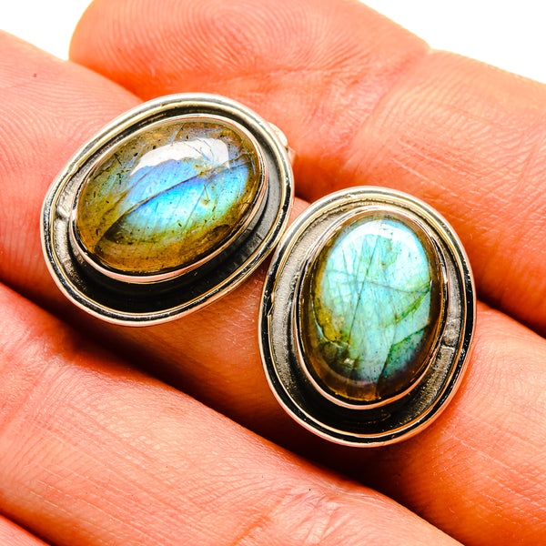 Labradorite Earrings handcrafted by Ana Silver Co - EARR413820