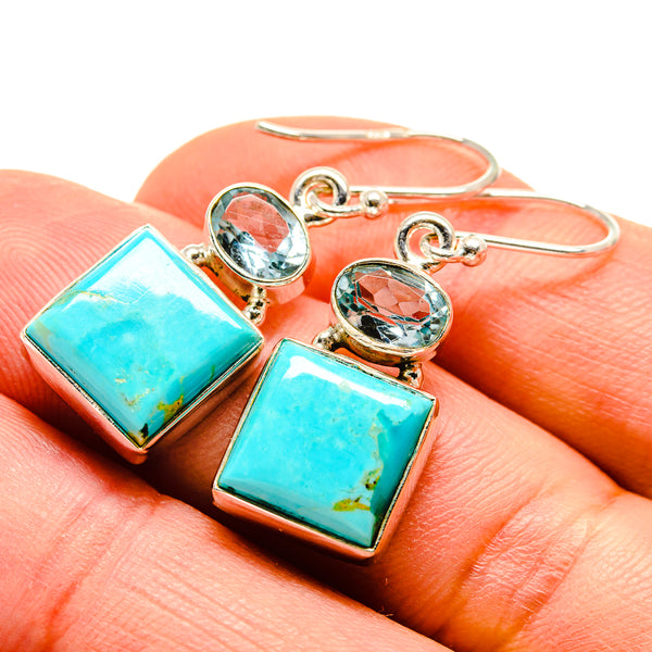 Arizona Turquoise Earrings handcrafted by Ana Silver Co - EARR413831