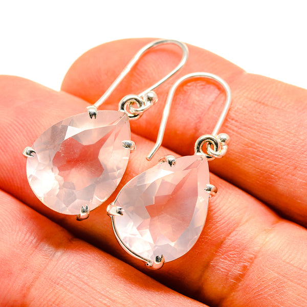 Rose Quartz Earrings handcrafted by Ana Silver Co - EARR414092