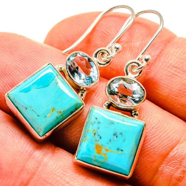 Arizona Turquoise Earrings handcrafted by Ana Silver Co - EARR415043