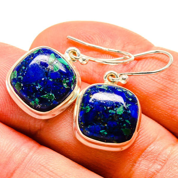 Azurite Earrings handcrafted by Ana Silver Co - EARR415124