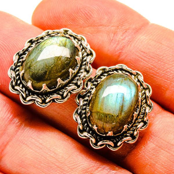 Labradorite Earrings handcrafted by Ana Silver Co - EARR415251