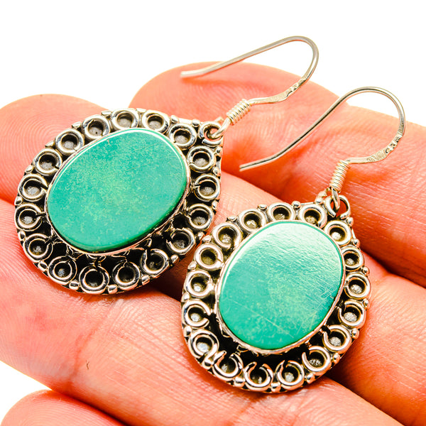Tibetan Turquoise Earrings handcrafted by Ana Silver Co - EARR415310
