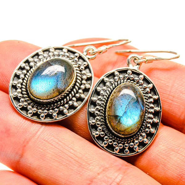Labradorite Earrings handcrafted by Ana Silver Co - EARR415332