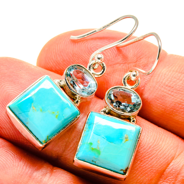 Arizona Turquoise Earrings handcrafted by Ana Silver Co - EARR415353